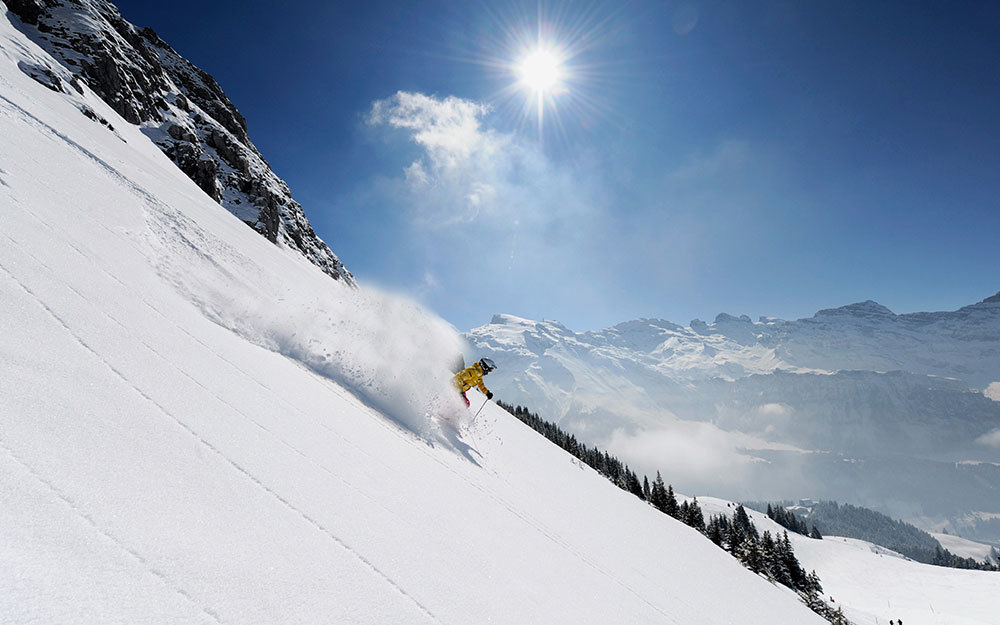 Skiing in France